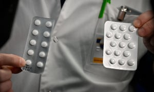 Tablets containing chloroquine, an additive that is found in an anti-malaria medication.