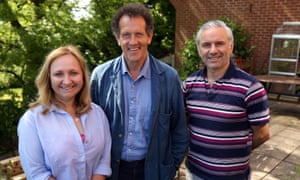 All smiles and encouragement ... Monty Don with Glenn and Zoe in Big Dreams, Small Spaces.