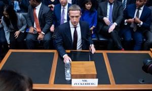 Mark Zuckerberg on Capitol Hill in Washington DC Wednesday.