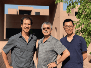 Study authors Dr. John Fasullo, Dr. Kevin Trenberth, and Dr. Lijing Cheng (co-authors Timothy Boyer, John Abraham, and Karina von Shuckmann not shown).