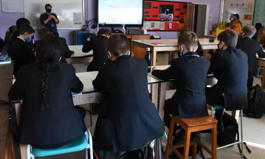 Year 7 students at Hailsham Community College in East Sussex