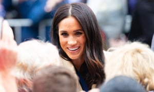 The Duchess Of Sussex greets people in Melbourne during her royal tour of the Pacific with Prince Harry.