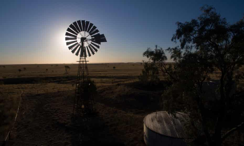 Drought affected land near Tambo, Queensland, Australia. A majority of Queensland has been in drought for up to seven years.