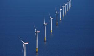 A windfarm off Blackpool