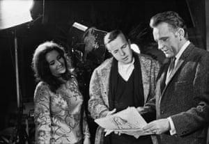 Zeffirelli with Elizabeth Taylor and Richard Burton
