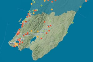 Water quality map of Wellington region, New Zealand.