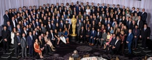 Say cheese! This year's Oscar class photo at the Beverly Hilton.