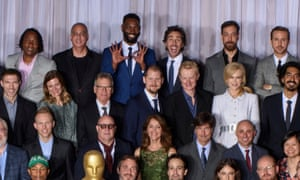 Tarell Alvin McCraney, back row, doing his one-of-a-kind jazz hands.