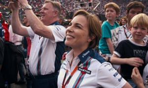 Claire Williams trackside in Williams, the documentary about her father.