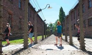 visitors to the Auschwitz-Birkenau memorial in Oswiecim, Poland, last summer.