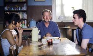 Negga with Douglas Henshall and Ben Gallagher in Iona.
