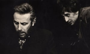 Richard Wilson as Kabak and Richard Kane as Gramsci in the 1970 production of Occupations at The Stables theatre club, Manchester