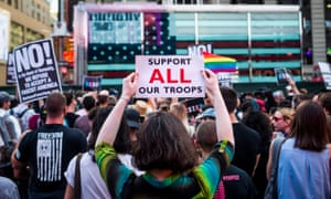 After a series of tweets by President Donald Trump, which proposed to ban transgender people from military service, thousands of New Yorkers took the streets.