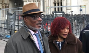Winston Trew and his wife, Hyacinth, outside the Royal Courts of Justice in London