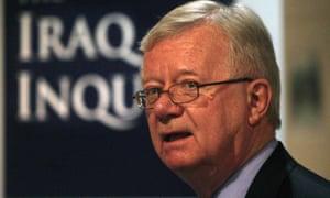 Sir John Chilcot, who led the Iraq war inquiry.