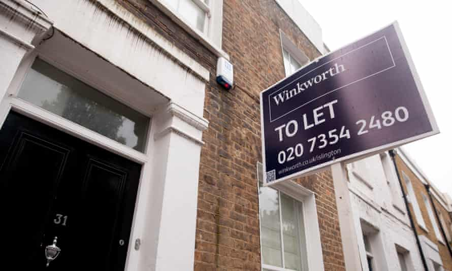 To let signs in Islington, north London.