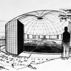 At one point MXC was to be covered in a giant glass geodesic dome.