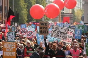 Up to 80,000 people are expected to attend the demonstration, organised by the TUC and anti-austerity protesters