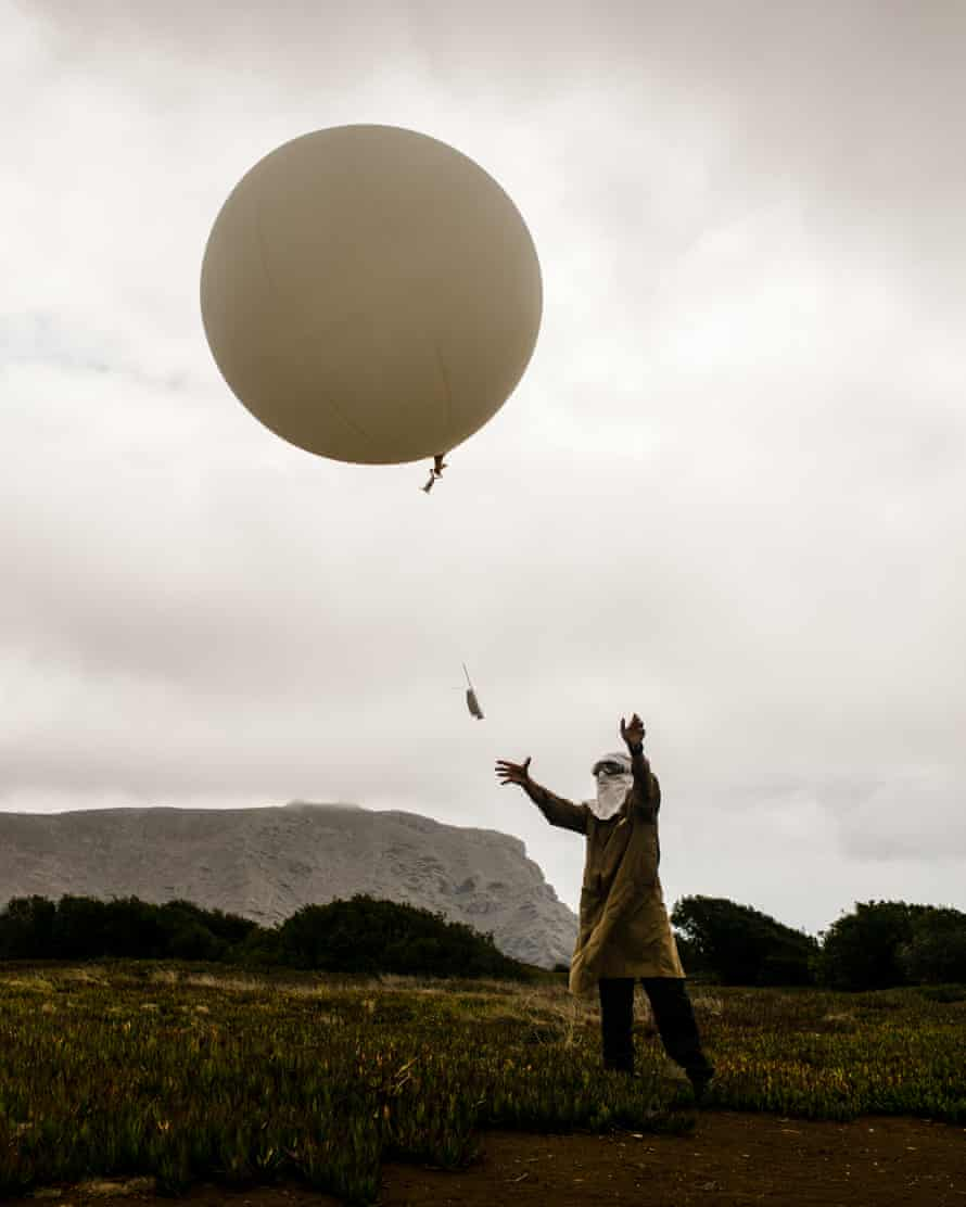 Launching the balloon at 11.15am.
