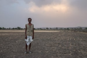 Because of the drought, Karori, 60, from Achanwara in India, has lost the crop that would have provided the annual income to feed his family. 'I can only pray to God now for the rains to come so our hardships may be lifted,' he says