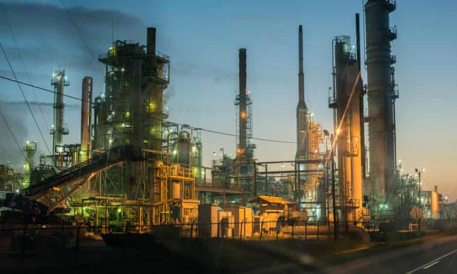 A chemical plant in Baton Rouge, an area known as 'Cancer Alley'.
