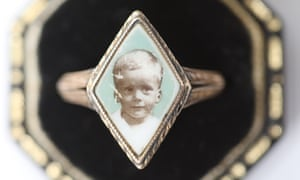 Nikki Marshall's grandmother's ring featuring a photo of her father as a child