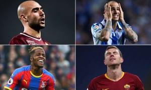 Simone Zaza, Sandro, Edin Dzeko and Wilfried Zaha have forgotten where the goal is.
