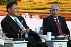 China's President Xi Jinping and Russian President Vladimir Putin.