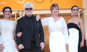 Pedro Almodovar at the premiere of his new film, Julieta, at the Cannes film festival.