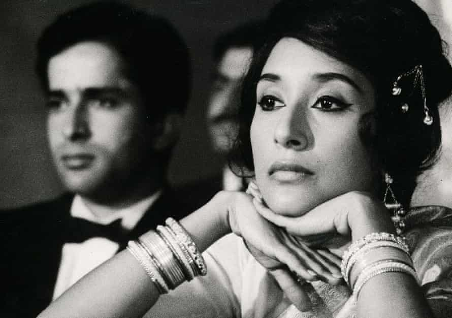 Madhur Jaffrey, right, with Shashi Kapoor at the theatre. The presence of Jaffrey's character distracts the play's audience.