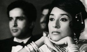 Madhur Jaffrey and Shashi Kapoor in Shakespeare Wallah, 1965.