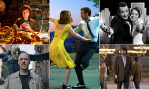 Hooray for Hollywood: clockwise from top left, Hugo, La La Land, The Artist, Argo and Birdman
