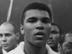 Muhammad Ali in the boxing ring