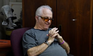 Recalling the overdose of his son, Paul Ressler folds his hands as he sits in his office in Hamilton, New Jersey.
