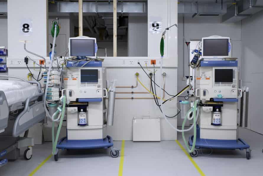 Ventilators in a hospital room