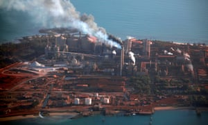 A Rio Tinto alumina refinery