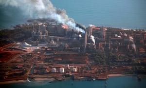 Rio Tinto refinery in Gove, NT