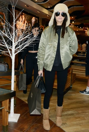 Legging it … Kylie and Kendall Jenner shopping in New York.
