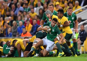 Conor Murray of Ireland gets the ball out of the scrum.