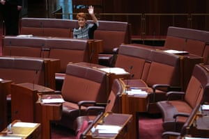 """Pauline Hanson and Malcolm Roberts are the only two votes for their motion to suspend standing orders to debate """"All lives matter"""" in the Senate this afternoon."""