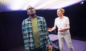 Anyebe Godwin (Nick) and Kate Maravan (Di) in Four Minutes Twelve Seconds by James Fritz.