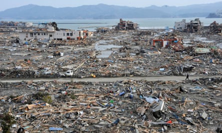 The aftermath of the devastating earthquake and subsequent tsunami six years ago in northeastern Japan.