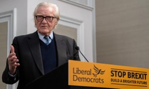 Michael Heseltine speaks at a Liberal Democrat party press conference in London last week.