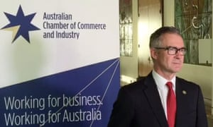Australian Chamber Of Commerce and Industry boss James Pearson