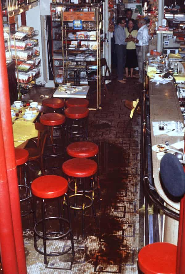 Chez Jo Goldenberg in Paris two days after gunmen shot at customers with sub-machine guns, killing six and injuring 22.
