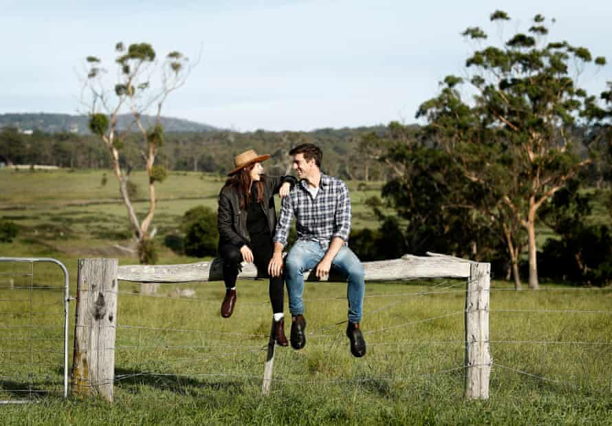 Cummins and his partner Becky in the Southern Highlands of NSW.