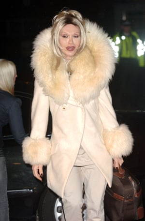 January 2006 Pete Burns arrives at the Celebrity Big Brother hous in Elstree Studios