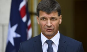The energy minister, Angus Taylor