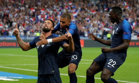 Olivier Giroud finds his scoring boots for France at just the right time