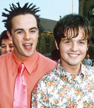 Ant and Dec in Blackpool in 1996, at the Summer Holiday opening night